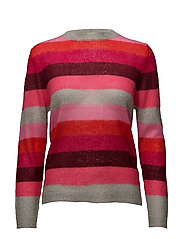 Striped mohair sweater - MULTICOLOR