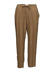 Striped jacquard trousers - BRONZE