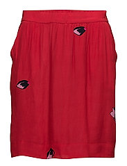 Skirt w. Blot print - RED SPOT PRINT