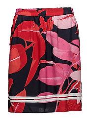 Skirt w. Branch print - BRANCH PRINT AND DARK BLUE
