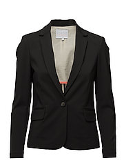 Jacket w. rib at side - BLACK