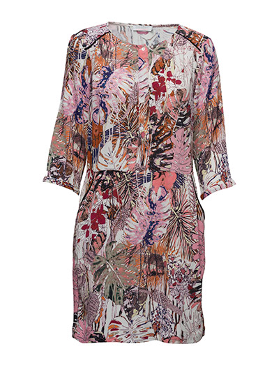 Jungle Print Dress W. Pocket