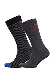 CR7 Fashion socks 2-pack - GREY/BLACK