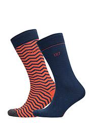 CR7 Fashion socks 2-pack - NAVY/RED
