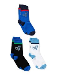 CR7 Kids socks 3-pack - silver/grey