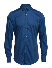 CR7 shirt Slim fit - Dark blue denim look