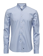 CR7 shirt Slim fit high collar - LIGHTBLUE