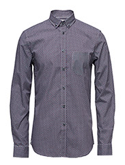 CR7 shirt Slim fit - GRå/SAND