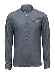 CR7 shirt Slim fit - GREY BLUE