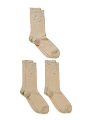 Cotton strech sock 3-pack - Beige