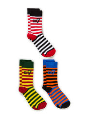 Cotton strech sock 3-pack - multi