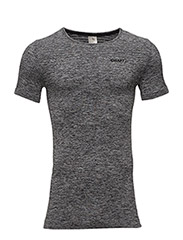 CORE SEAMLESS TEE  - BLACK MELANGE