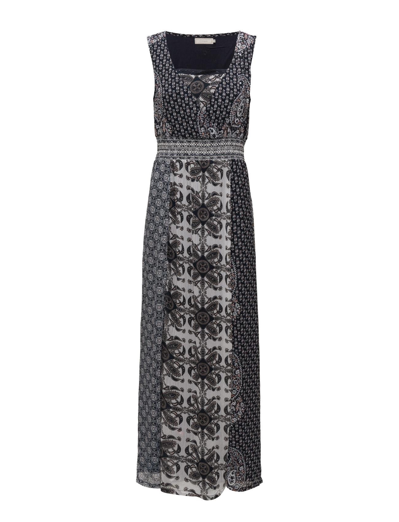 Venice Dress Cream Knælange & mellemlange til Damer i Royal Navy Blå