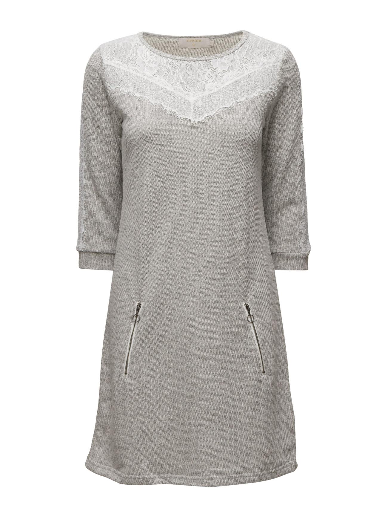 Larisa Sweat Dress Cream Knælange & mellemlange til Damer i