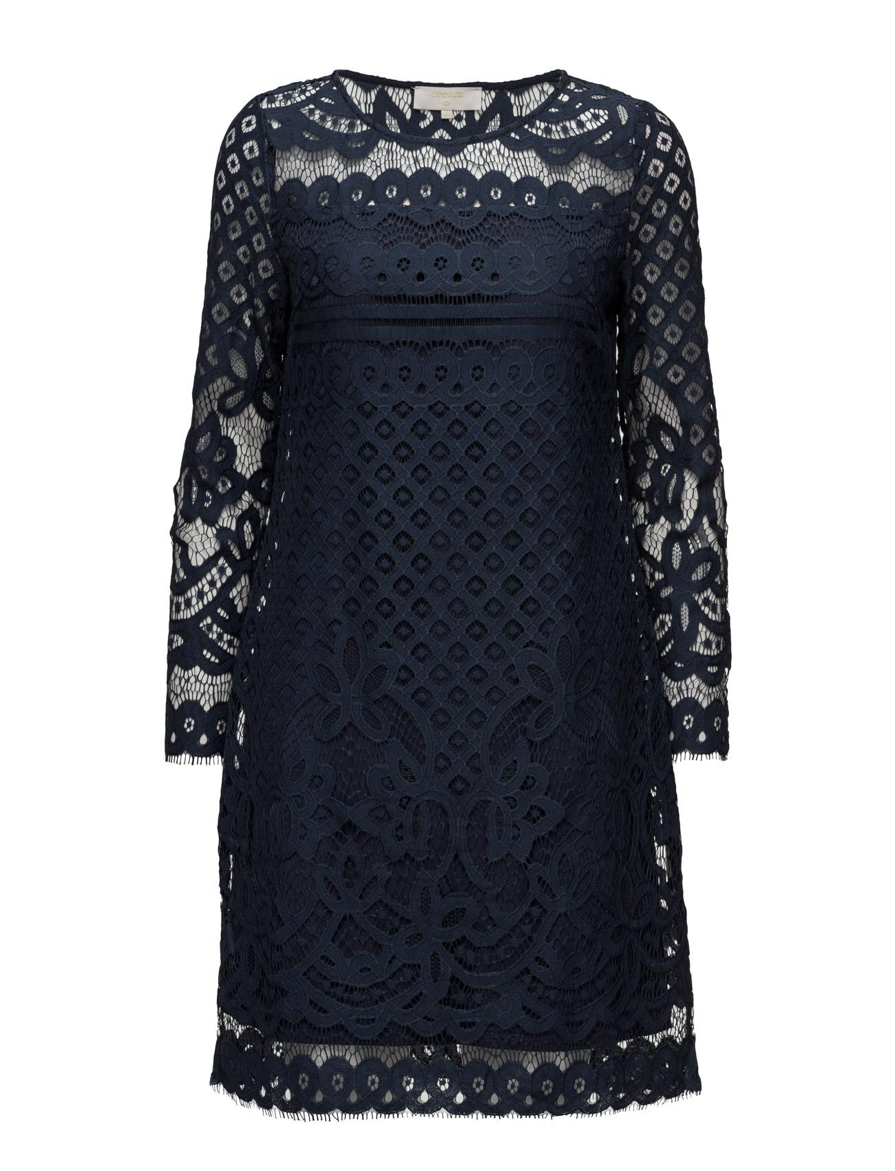 Rico Dress Cream Korte kjoler til Damer i Royal Navy Blå