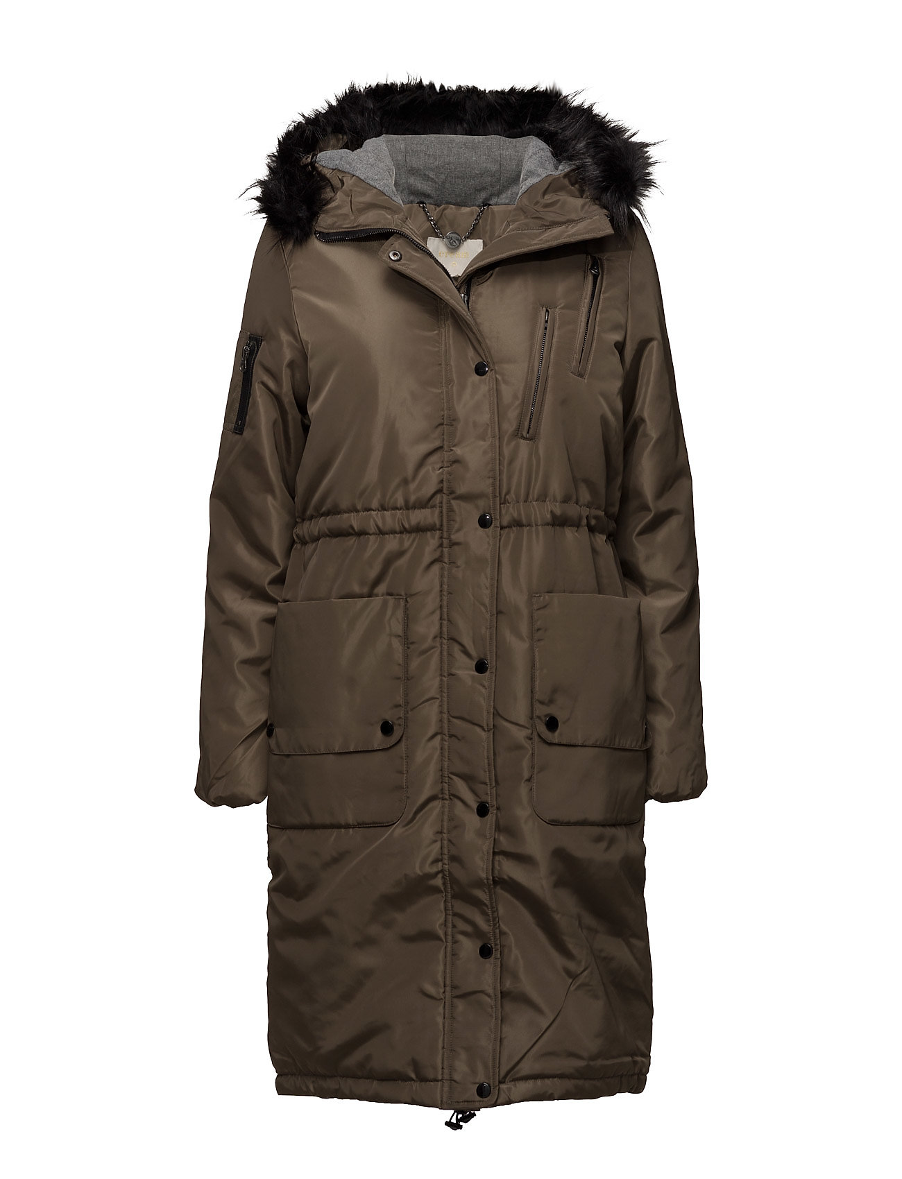 Addison Long Parka Cream Frakker til Damer i