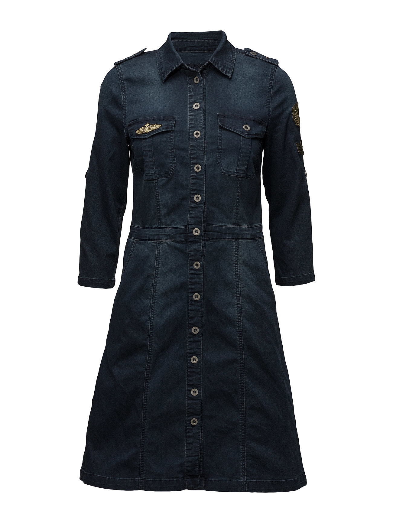 Uniform Denim Dress Cream Dresses thumbnail