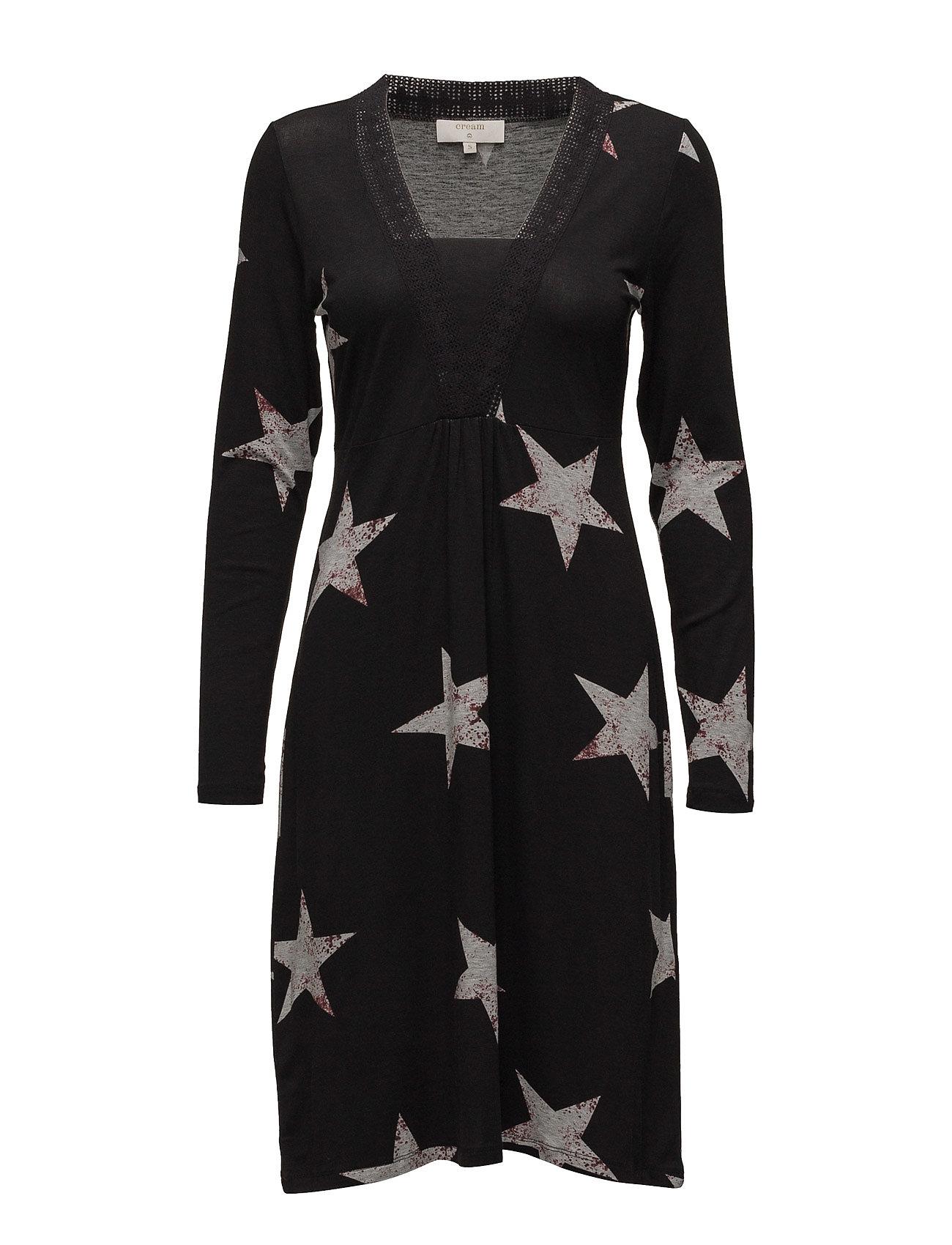 Stacia Dress Cream Korte kjoler til Damer i Mørk grå