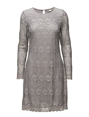 Lianna Lace Dress - CLEAR GREY