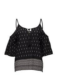 Abuja blouse - PITCH BLACK