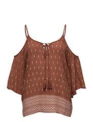 Abuja blouse - SUN BROWN