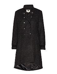 Annabell Coat - BLACK MELANGE