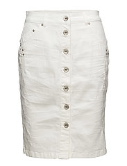 Fry Denim Skirt - OPTICAL WHITE