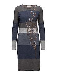 Lisa Flower dress - VINTAGE BLUE