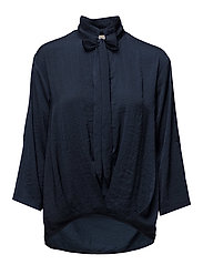 Comma Blouse - ROYAL NAVY BLUE