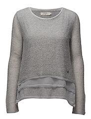 luise pullover - LIGHT GREY MELANGE