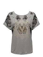 Laurie T-shirt - LIGHT GREY MELANGE