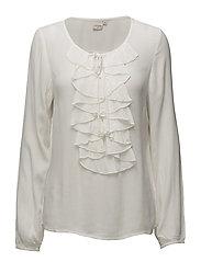 Sibel Flounce blouse - CHALK