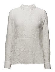 Lilly Peplum blouse - CHALK