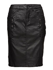 Carla coated skirt - PITCH BLACK