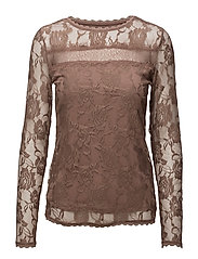 Sille Ls Blouse - BURNT HEATHER
