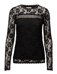 Sille Ls Blouse - PITCH BLACK