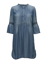 Lussa denim dress - LIGHT BLUE DENIM