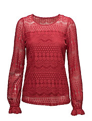 Gina Blouse - AMERICAN BEAUTY RED