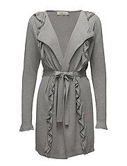 Cathrine Long Cardigan - LIGHT GREY MELANGE