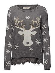 Christmas pullover - LIGHT GREY MELANGE