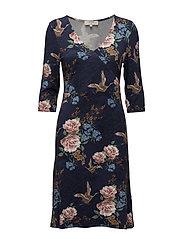 Rosemary Dress - BLACK IRIS