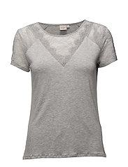 Saseline T-shirt - LIGHT GREY MELANGE