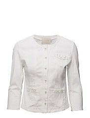 Cara pearl jacket - CHALK