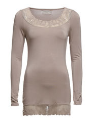 Florence L/S Top - Warm Taupe