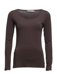 Camille L/S T-shirt- MIN 2 ass - Dark Zinc