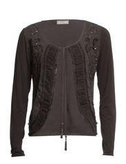 Brandy Cardigan - Dark Zinc