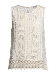 Isabella Lace Top - Cream Off White