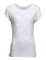Studs Heart T-shirt - Optical white