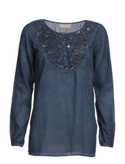 Lila Top - Vintage Blue