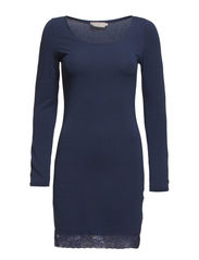 Camille L/S Underdress - Vintage Blue